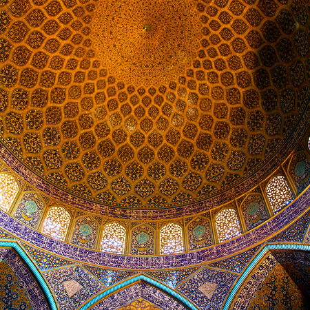 blur in iran abstract texture of the  religion  architecture mosque roof persian history Éditoriale