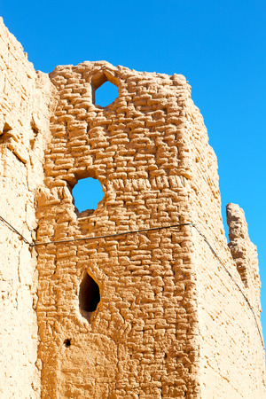 Blur in Iran the old castle near saryadz brick and sky