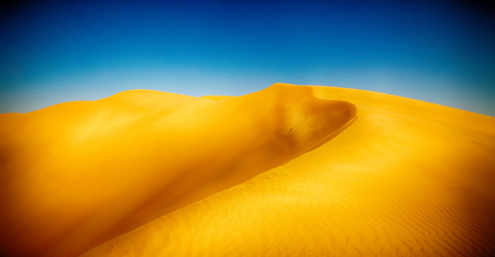 the empty quarter  and outdoor  sand  dune in oman old desert rub al khali  Stock Photo