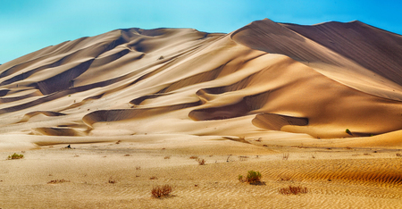 the empty quarter and outdoor sand dune in oman
