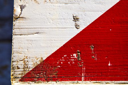 busto arsizio abstract rusty wood italy lombardy and white red stripe Archivio Fotografico