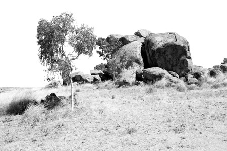 in australia the rocks  of devil s marble in the northern  territory Stock Photo