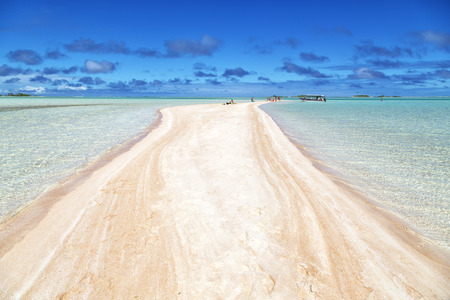 in polynesia rangiroa the pink sands of the coastline like paradise concept and relax 写真素材