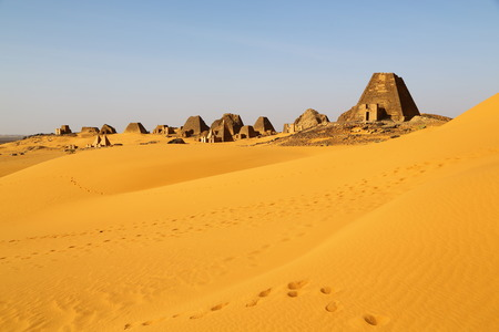 in africa sudan meroe the antique pyramids of the black pharaohs in the middle of the desert