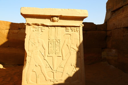in africa sudan naqa the antique temple of the black pharaohs in the middle of the desert