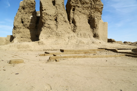 in africa sudan kerma the antique city of the nubians near the nilo and tombs Фото со стока