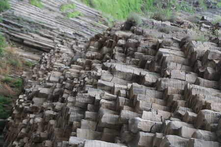 in armenia garni in the valley the antique organ basalt columns unique geological formation Reklamní fotografie