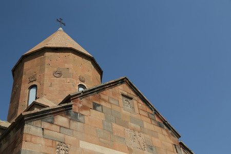 in armenia khor virap the old monastery medieval architecture near the mountain and the ararat