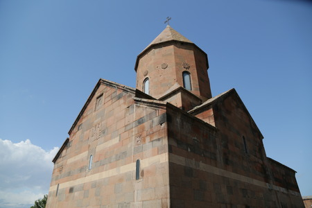 in armenia khor virap the old monastery medieval architecture near the mountain and the ararat Banco de Imagens - 124999185