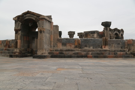 in armenia zvartnots the old buildings and historical site protect by unesco Editorial