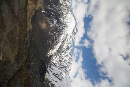 in georgia kazbegi the mountain  in the caucasian land Banco de Imagens
