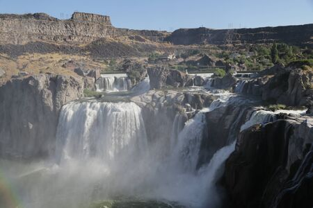 in USA the twin falls in idaho  the beauty of amazing nature tourist destination Фото со стока