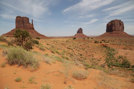 in USA inside the monument valley park the beauty of amazing nature tourist destination 免版税图像