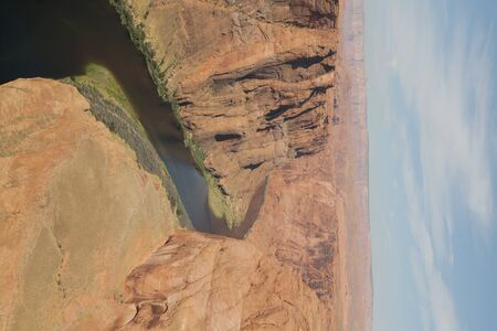in USA  horseshoe and  river in national  park the beauty of amazing nature tourist destination