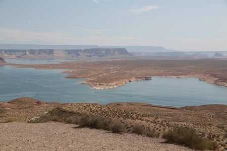 in USA  lake powell in national  park the beauty of amazing nature tourist destination