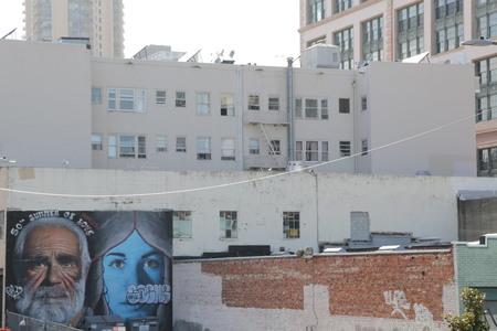 USA, SAN FRANCISCO-CIRCA AUGUST 2019--unidentified graffiti in the wall Redakční
