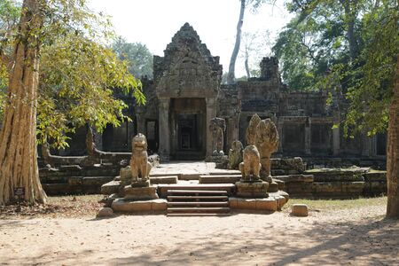 in cambodia angkor wat  the old buildings and historical site protect by unesco amazing tourist destination