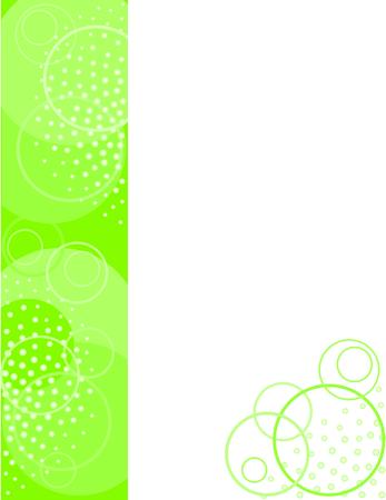 Brochure Backdrop Green Circles