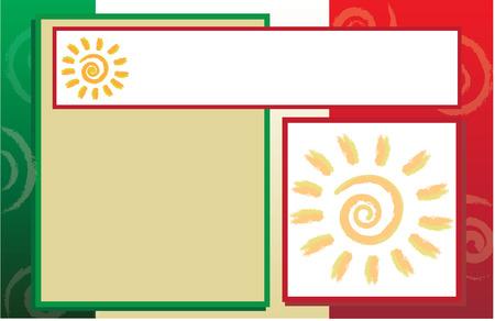 bandera mexicana: Postal de la bandera mexicana