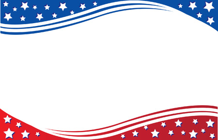 ポストカード アメリカ国旗