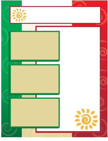 drapeau mexicain: Drapeau mexicain Contexte Illustration