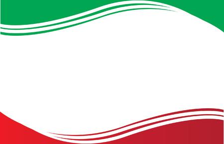 mexican flag: Bandiera del Messico Postcard