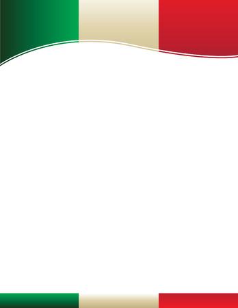 Mexican Flag Border Illustration