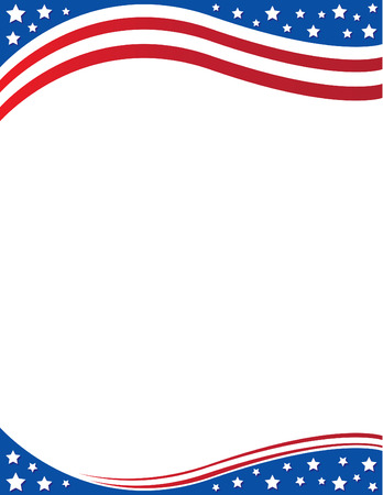 American Flag Background Illustration