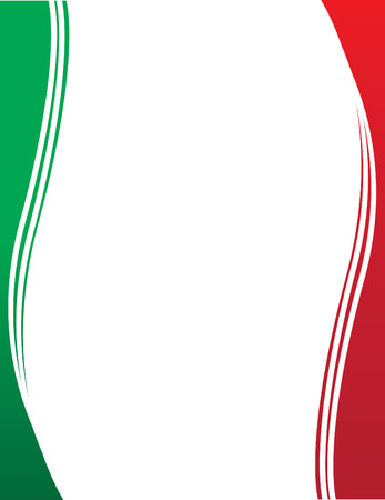 drapeau mexicain: Mexican Border Drapeau Illustration