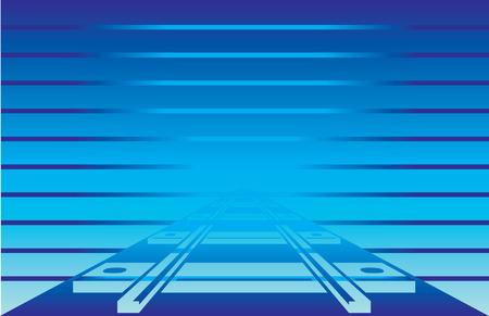 railroad track: Railroad Track Postcard Blue