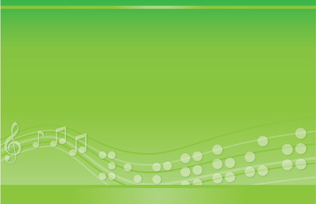 music background: Musical Braille Postcard Green Illustration
