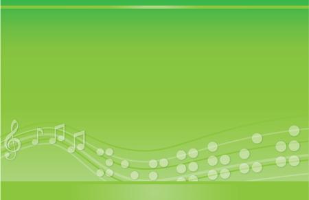 Muzikale Braille Postcard Green