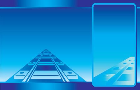 Blue Railroad Postcard