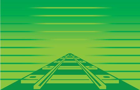 Green Postcard Railroad
