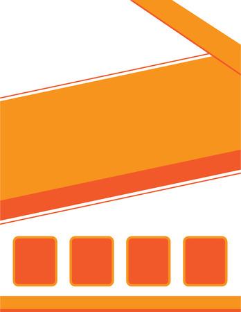 Orange Background Ilustracja