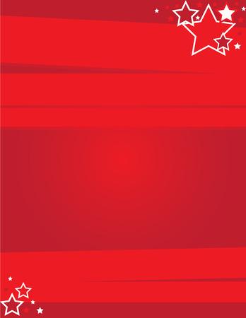 赤のイベント チラシ