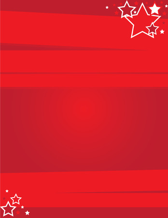 Red Event Flyer 일러스트