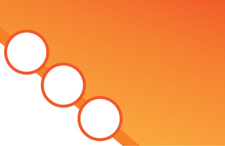 Orange Circle Postcard Ilustracja