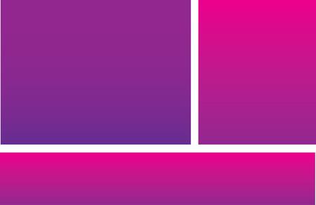 Pink Purple Postcard Ilustracja