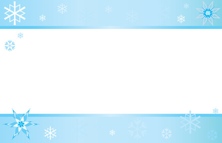 page layout: Winter Snowflake Postcard Illustration
