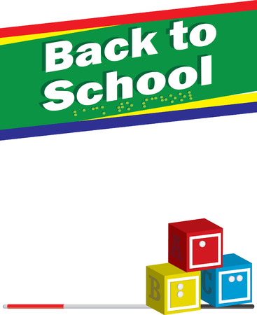 visually: Blind Back to School Background Illustration