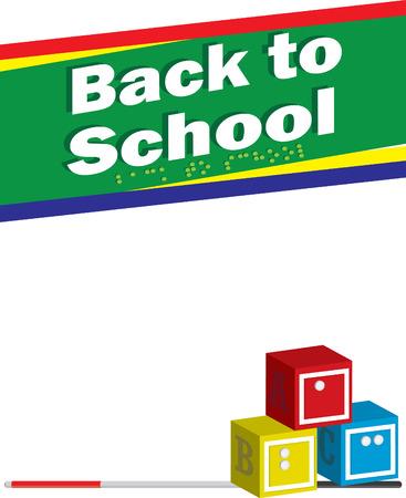 Blind terug naar school achtergrond Stock Illustratie