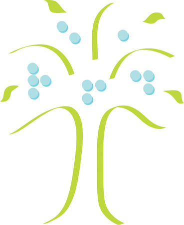 visually: Braille Tree Logo Illustration