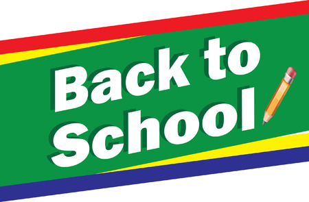 Back to School Banner Illustration