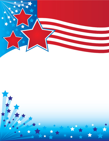Patriotic Flyer Ilustrace