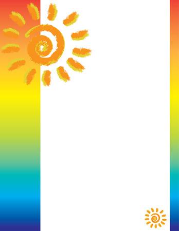 Mexican Sun Border 向量圖像