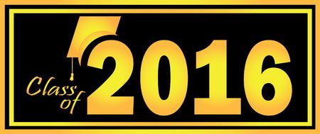 Class of 2016 向量圖像