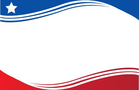 Chille et Drapeau Puerto Rico Postcard Vecteurs
