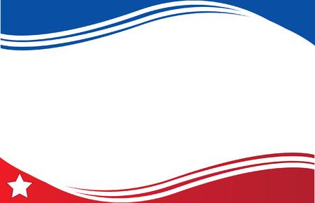 bandera de cuba: Bandera de Cuba Postal Vectores