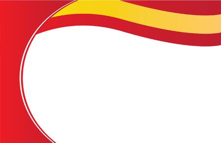 スペイン フラグはがき  イラスト・ベクター素材
